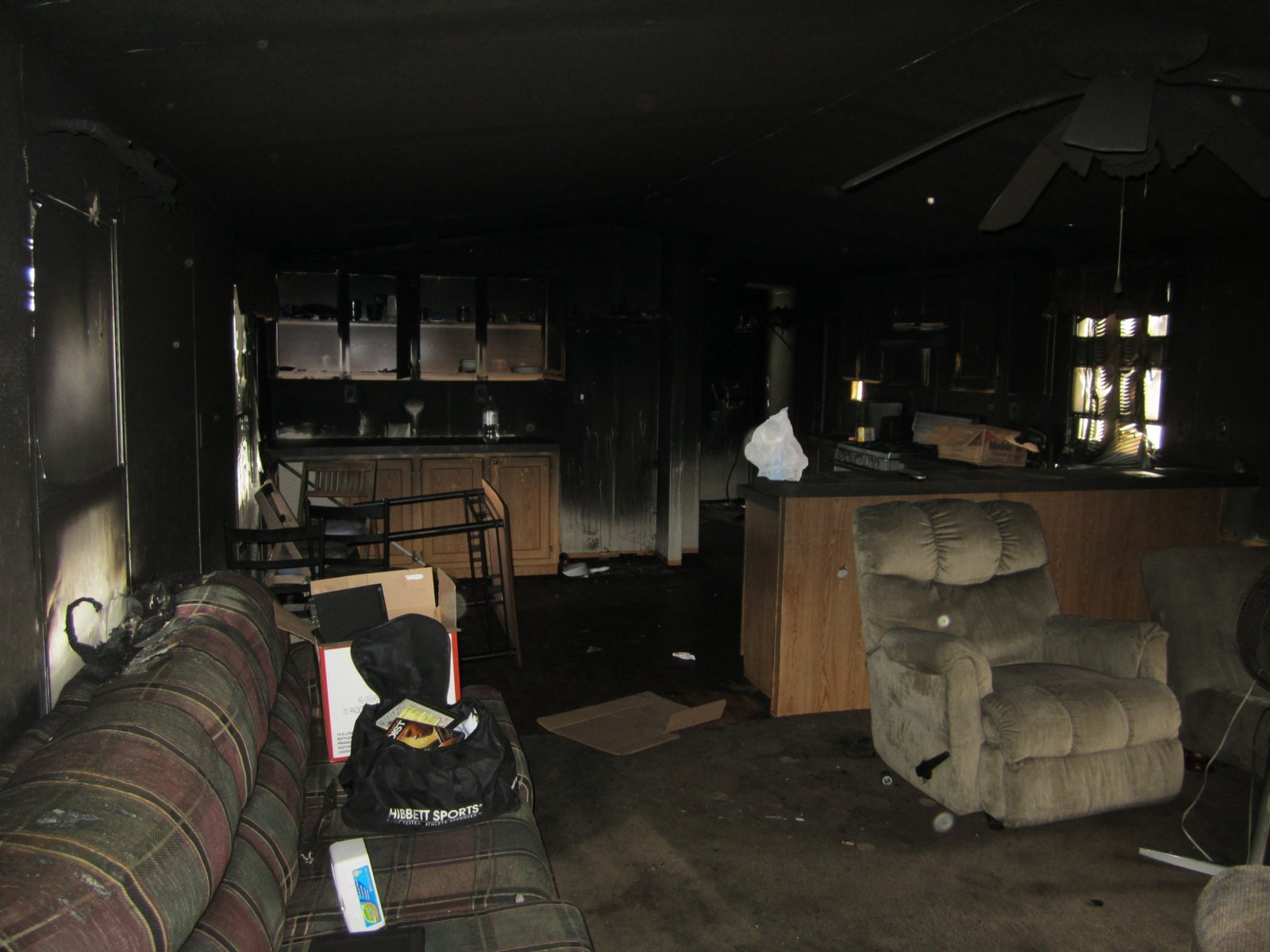 meth fire living area