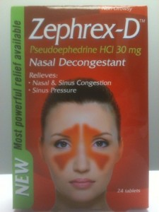 Zephrex-D Meth-Proof pseudoephedrine nasal decongestant